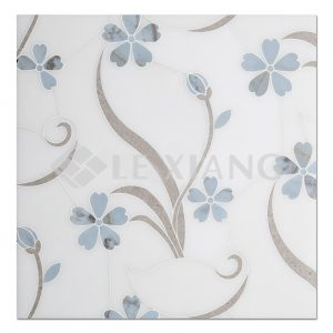 Water Jet Cut Marble Mosaic Tile Bathroom Wall Orchid-2
