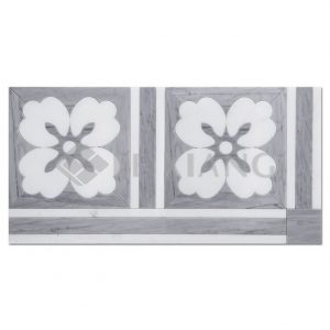 Water Jet Cut Marble Mosaic Tile Gardenia For Bathroom Wall Tiles-1
