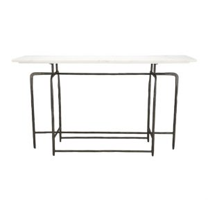 White Marble Console Hall Table-5