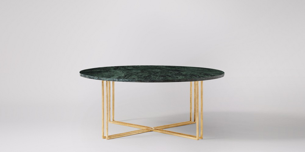 White Or Green Round Marble Coffee Table