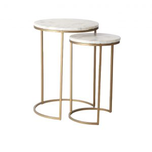 Nesting Round Marble Side Table Set-6