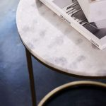 Nesting Round Marble Side Table Set-8