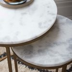 Nesting Round Marble Side Table Set-9