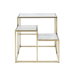 Three Layers Square Marble Side Table-2
