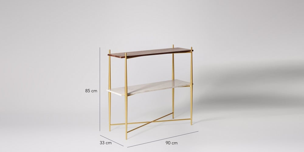 Flexible Marble Tabletop Console Table-2