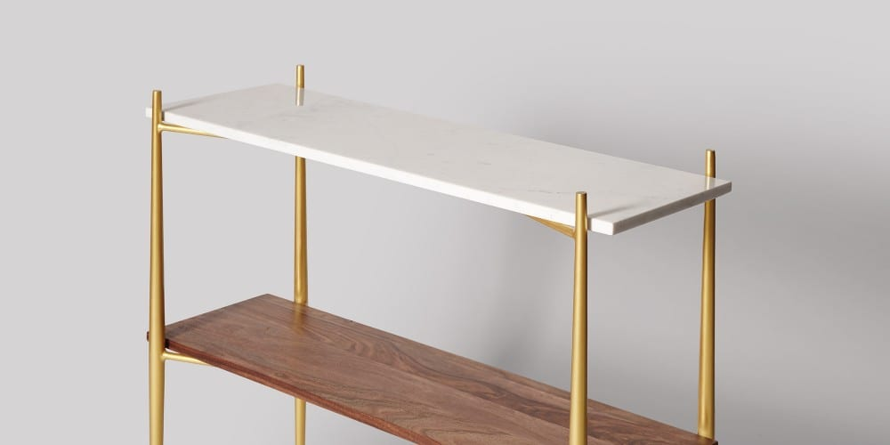 Flexible Marble Tabletop Console Table-7
