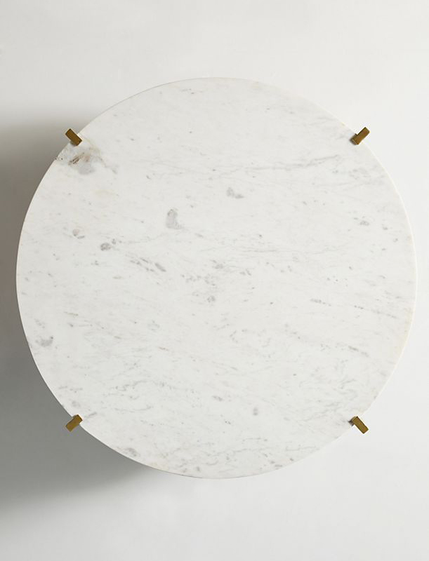 Marble And Oak Wood Top Coffee Table-4