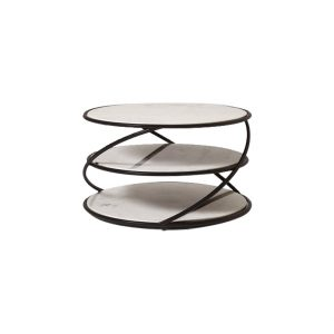Marble Coffee Table With Black Steel Frame-5