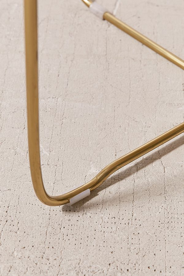 Marble Surface Coffee Table Brass Legs-4