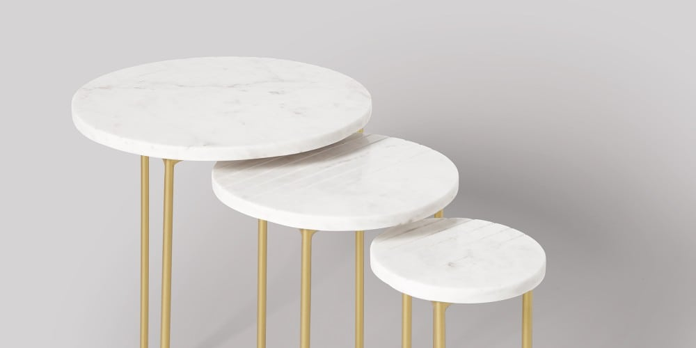 Nesting Marble Side Table Set-1