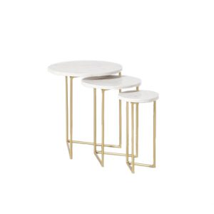 Nesting Marble Side Table Set-12