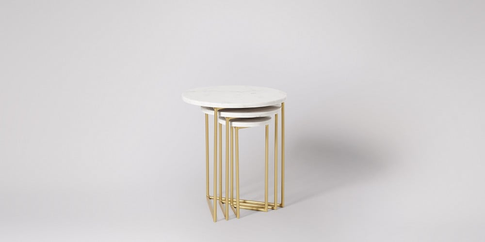 Nesting Marble Side Table Set-14