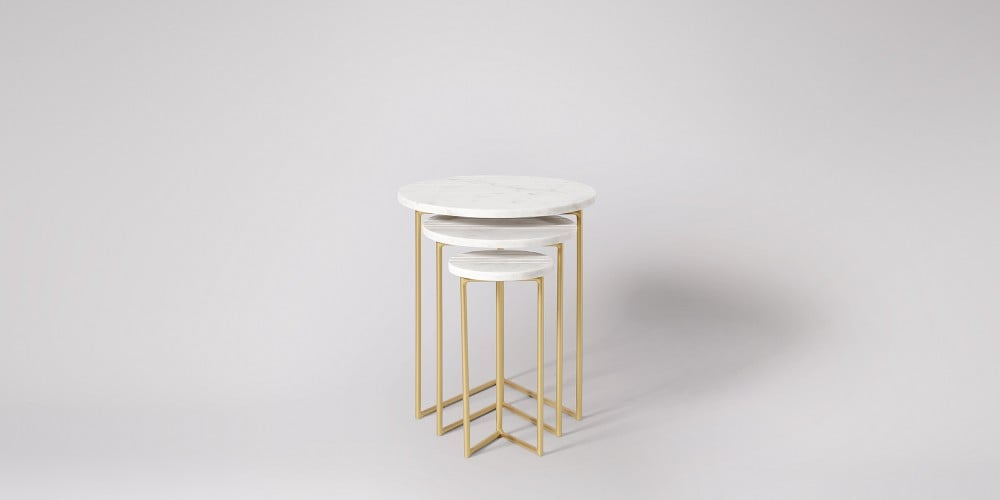 Nesting Marble Side Table Set-15