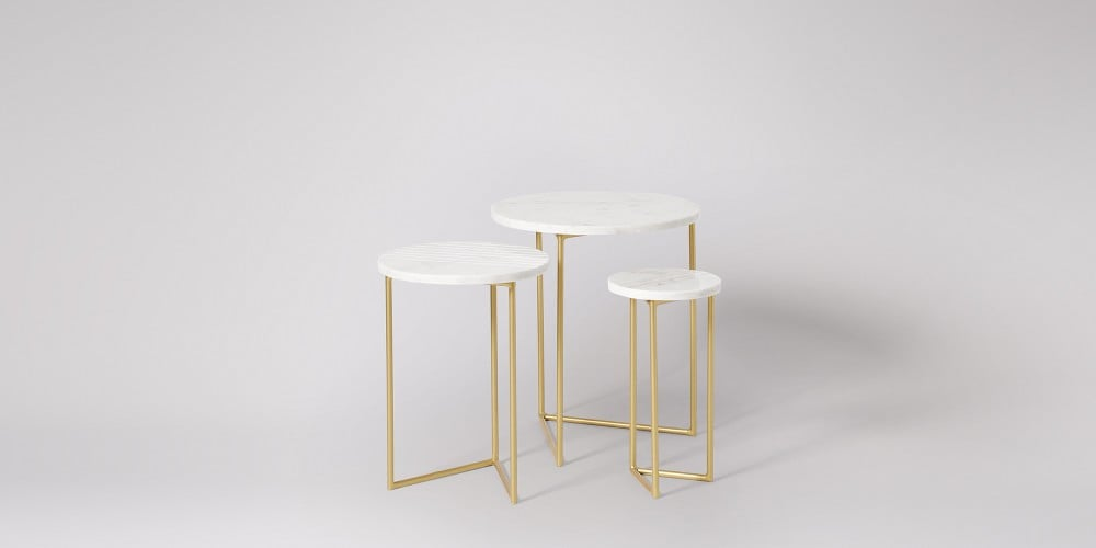 Nesting Marble Side Table Set-17
