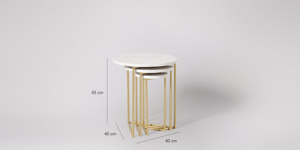 Nesting Marble Side Table Set-3
