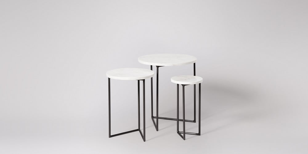 Nesting Marble Side Table Set-8