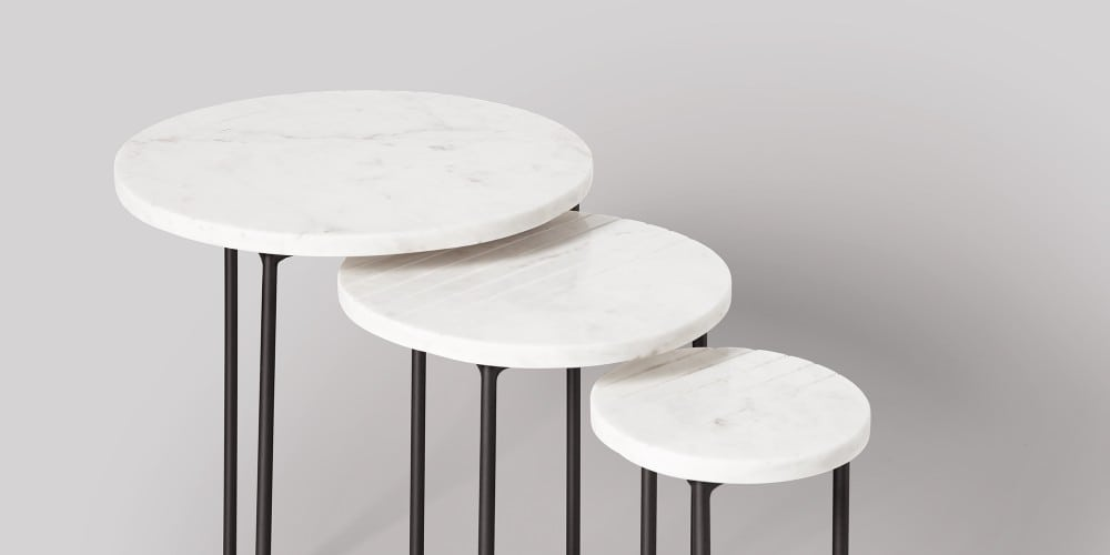 Nesting Marble Side Table Set-9