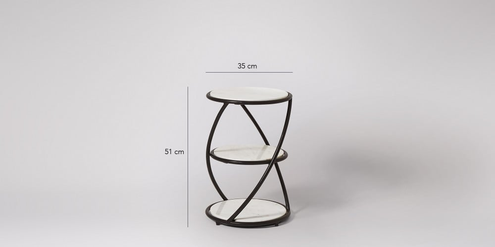 Small Side Table With Black Steel Frame-5
