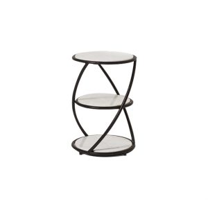 Small Side Table With Black Steel Frame-6