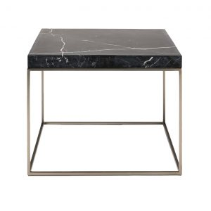 Square Black Marquina Marble Side Table-8