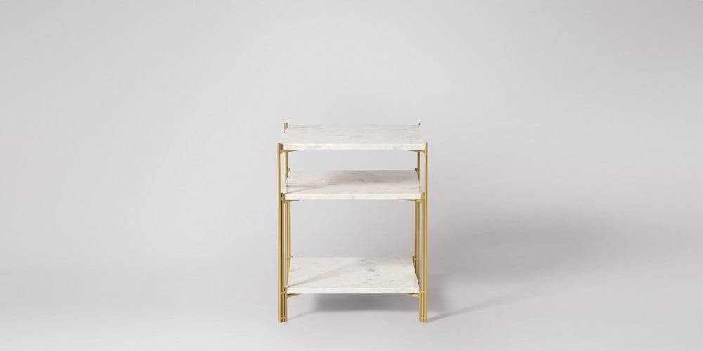 Three-tier Square Marble Side Table-10
