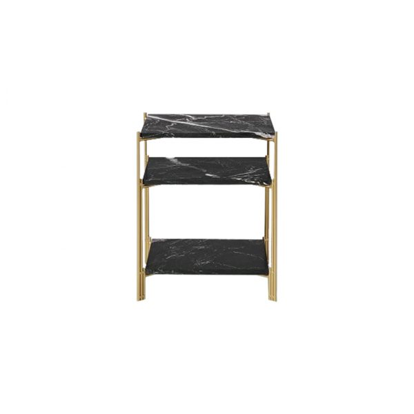 Three-tier Square Marble Side Table-5
