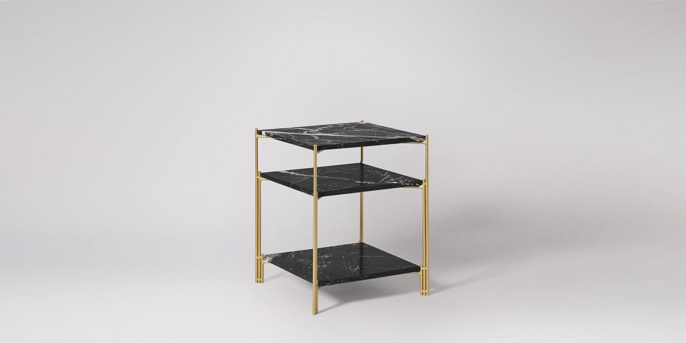 Three-tier Square Marble Side Table-6