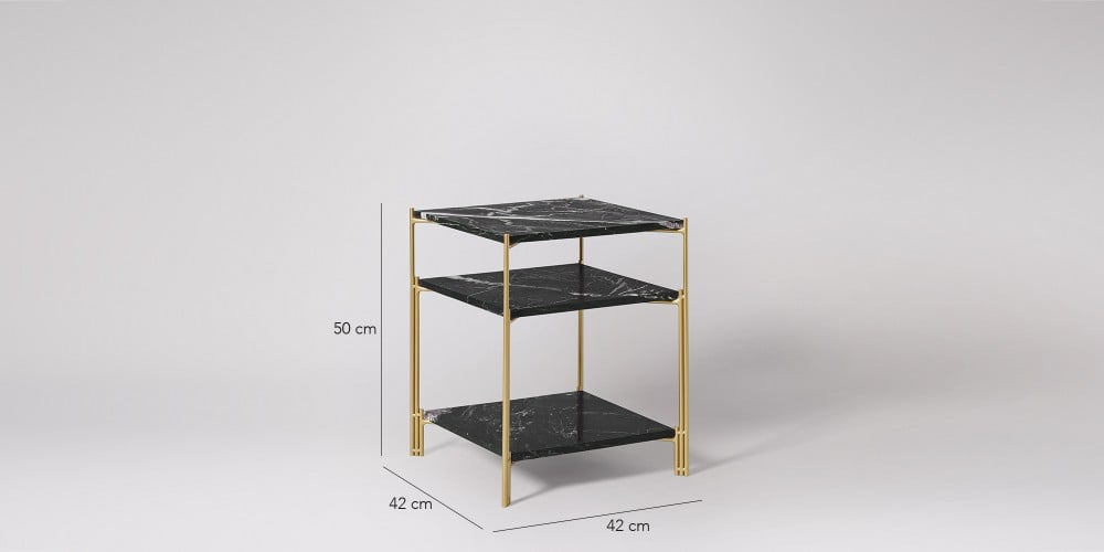 Three-tier Square Marble Side Table-9