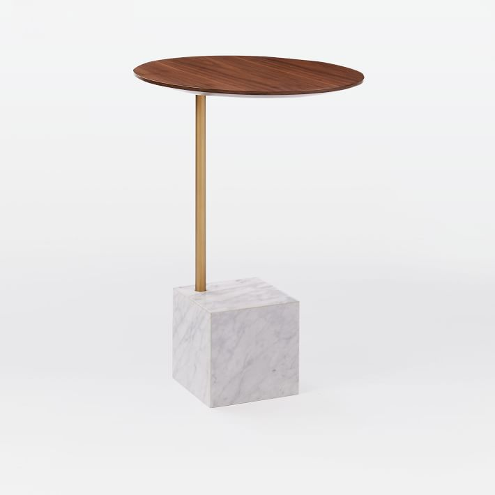 Marble Cube Base Side Table-10
