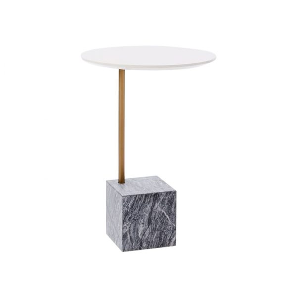 Marble Cube Base Side Table-5