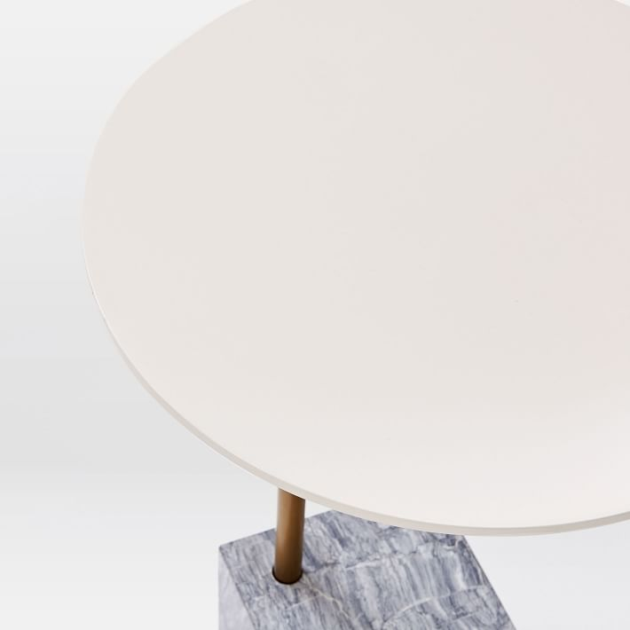 Marble Cube Base Side Table-6