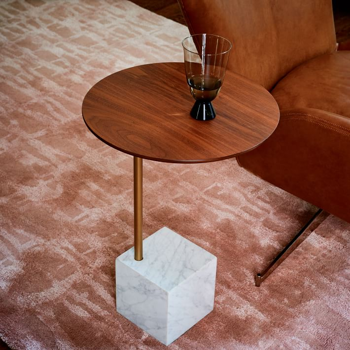 Marble Cube Base Side Table-8