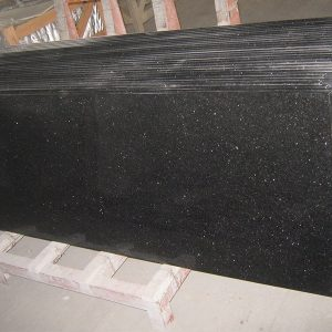 Black Galaxy Granite Custom Bathroom Countertop-1