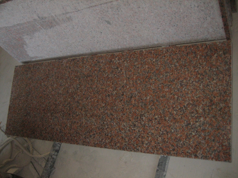 G562 Maple Red Granite Kitchen Countertops-3