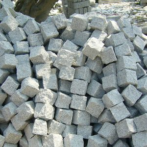 G603 Grey Granite Cubes Paving Stone For Garden-3