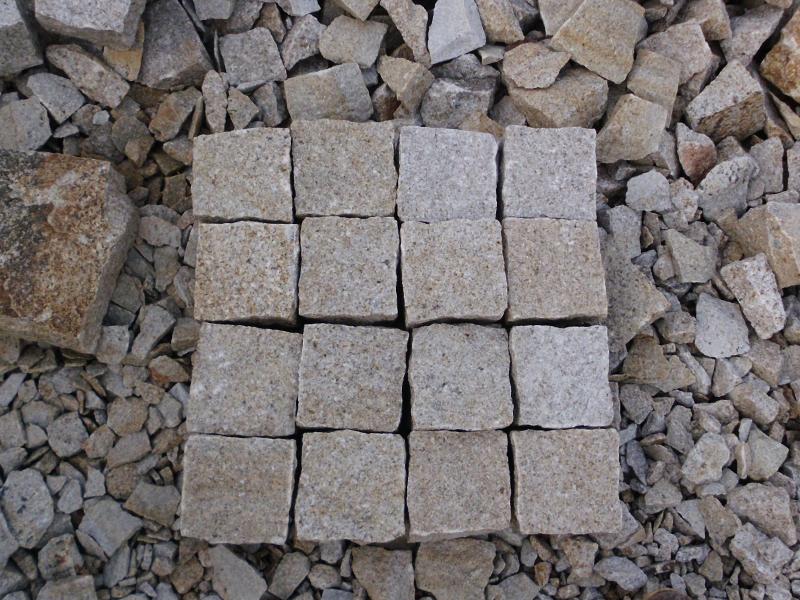 G682 Yellow Granite Cubes Outdoor Gardern Pavers-2