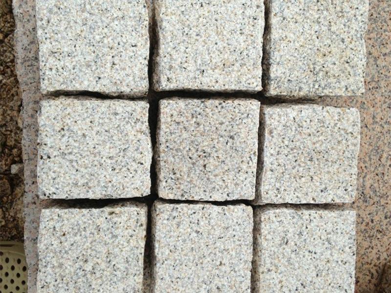 G682 Yellow Granite Cubes Outdoor Gardern Pavers-4