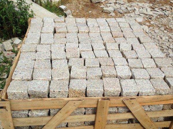 G682 Yellow Granite Cubes Outdoor Gardern Pavers-5