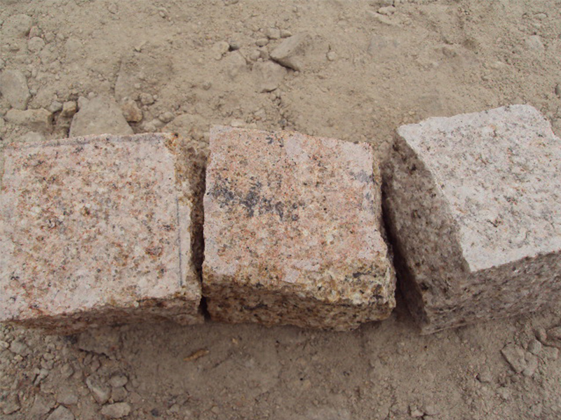 G682 Yellow Granite Cubes Outdoor Gardern Pavers-6
