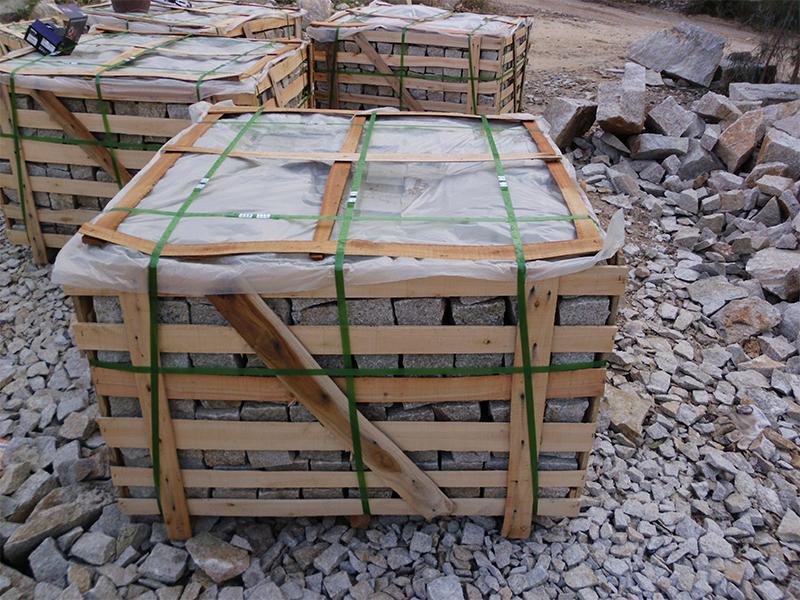 G682 Yellow Granite Cubes Outdoor Gardern Pavers-7