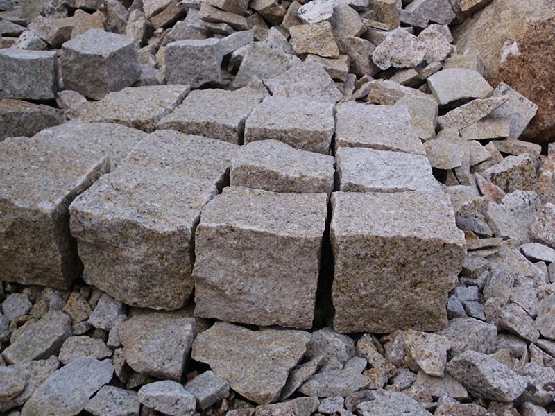G682 Yellow Granite Cubes Outdoor Gardern Pavers-9