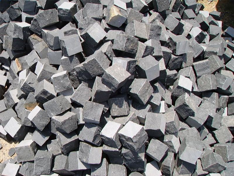 G685 Black Granite Cube Garden Paving Stone-10