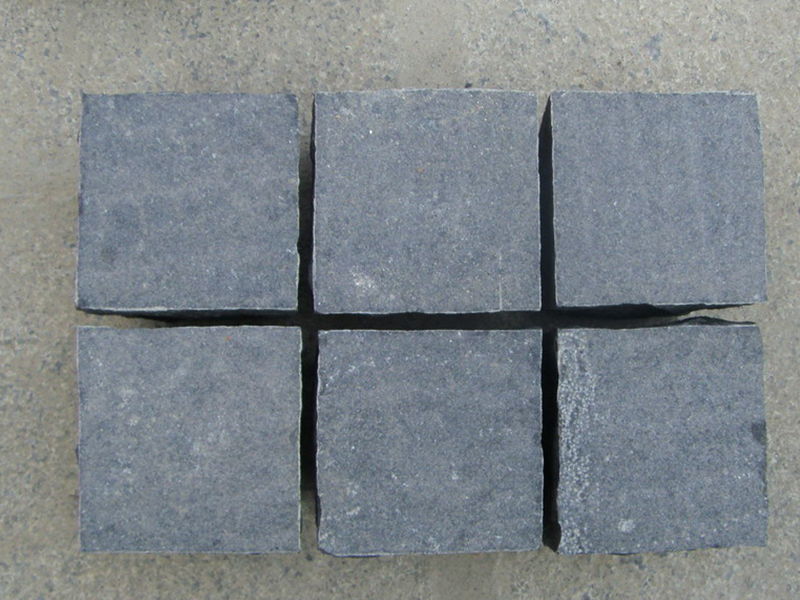 G685 Black Granite Cube Garden Paving Stone-4