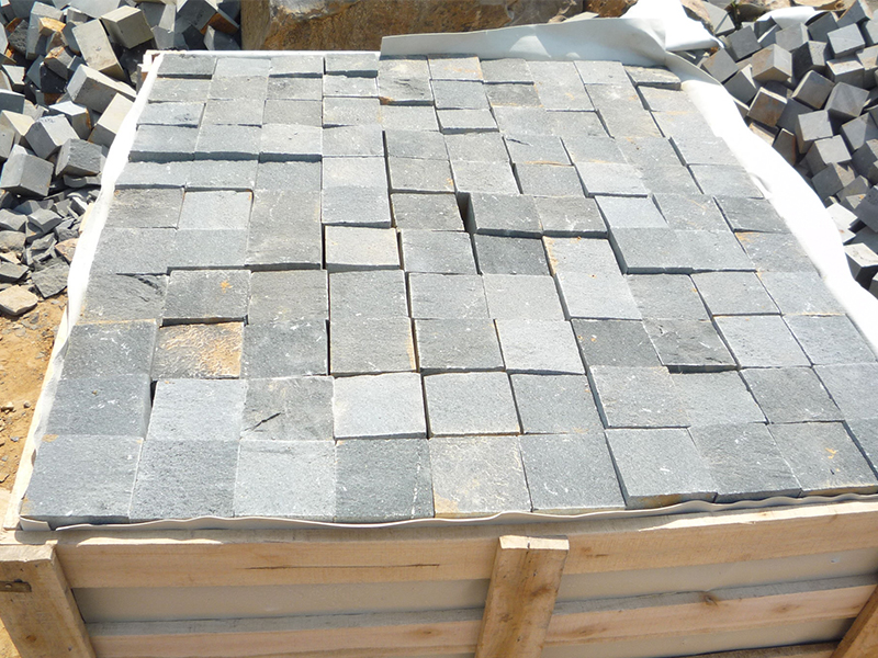 G685 Black Granite Cube Garden Paving Stone-6