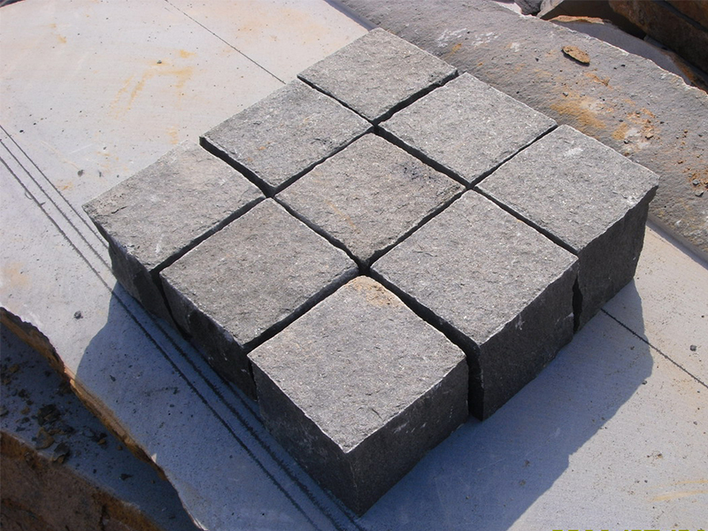 G685 Black Granite Cube Garden Paving Stone-7