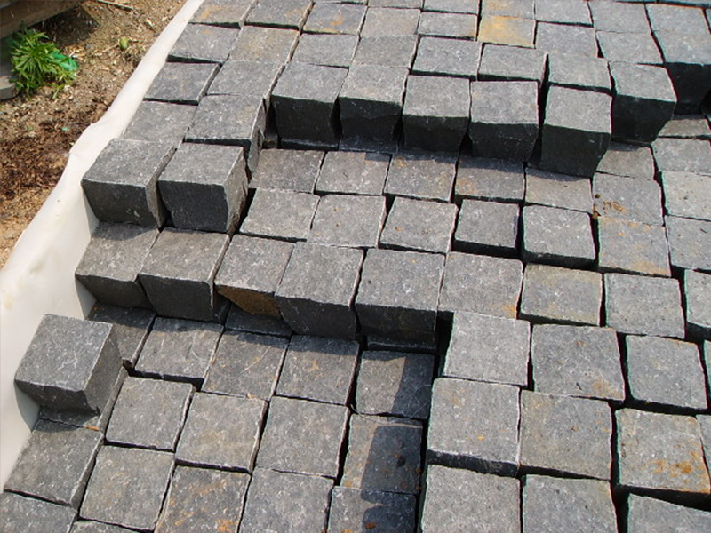 G685 Black Granite Cube Garden Paving Stone-8