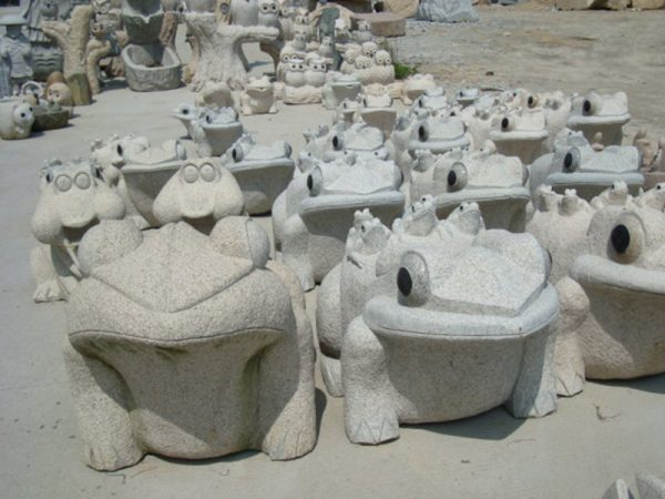 Frog Granite Animal Stone Sculpture For Sale