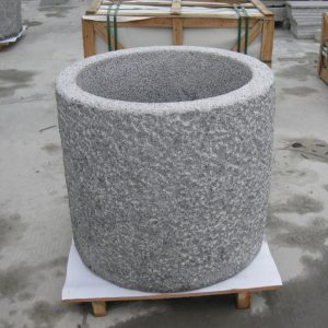 G603 Grey Granite Stone Trough Planter Customizable-2