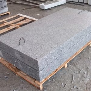 G654 Dark Grey Granite Steps Honed Finish For Sale-5