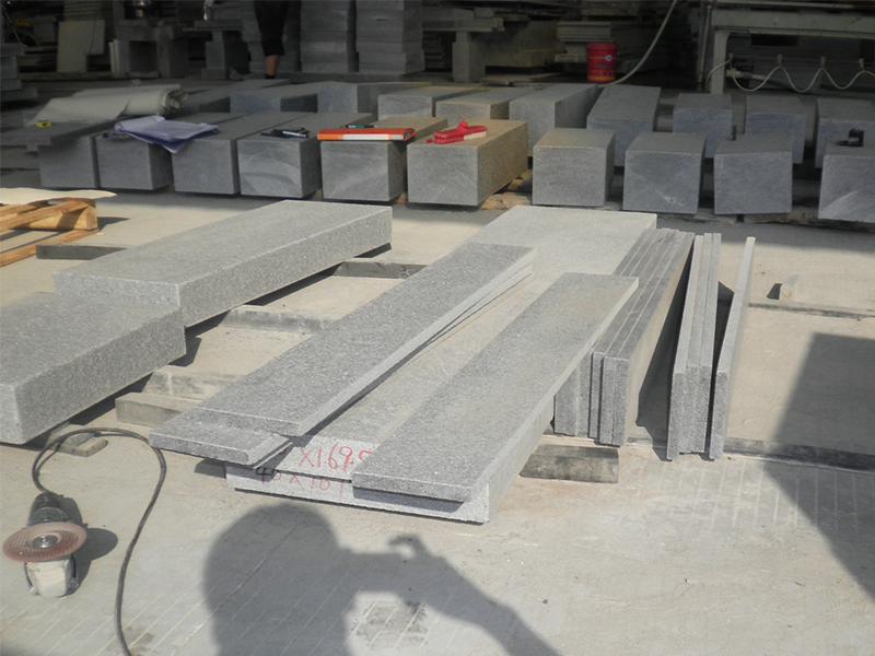 G654 Granite Polish Finished Stone Stairs-1